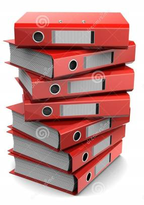 pile-red-binder-folders-d-clipart-white-background-31532925